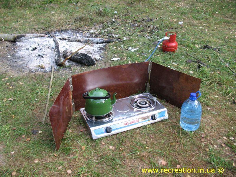 Защита газовой плиты от ветра своими руками
